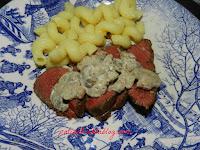 Roti de biche sauce champignons