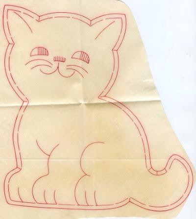 パジャマ入れ無料型紙 ネコ