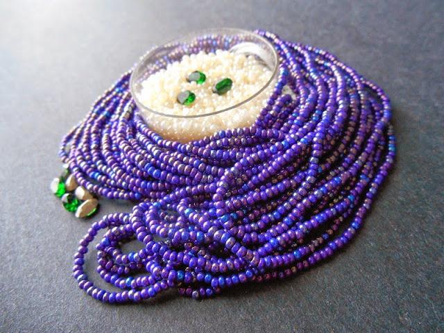 Purple Pysanky Bead Palette Idea