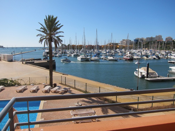 view from the room to marina of Portimao in Tivoli Marina Portimao resort