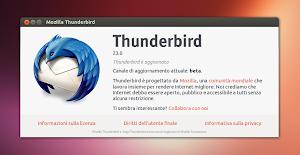 Thunderbird 23 su Ubuntu Linux