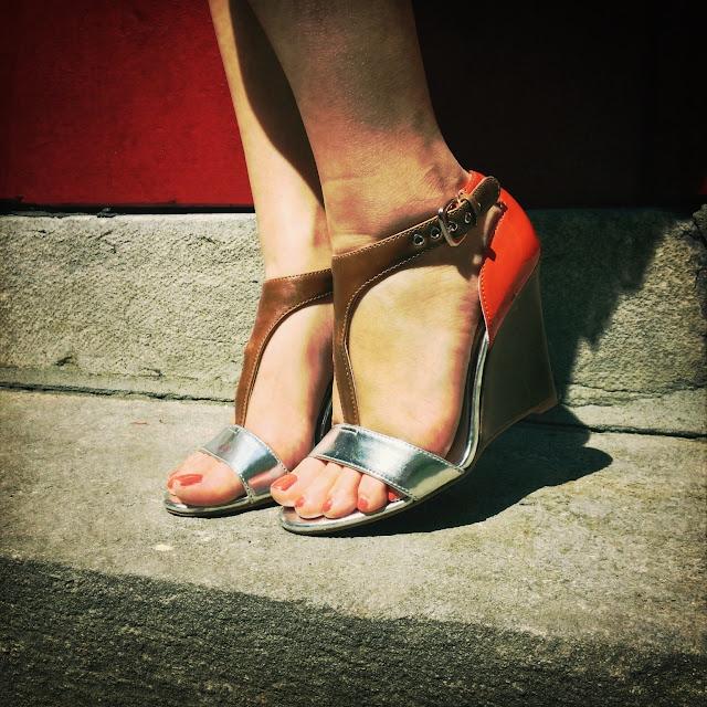 tricolor sandals