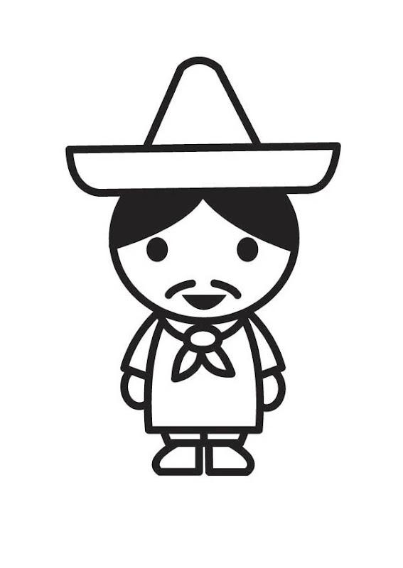 Mexicanito para colorear