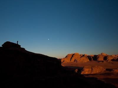 Posta de sol sobre el desert
