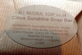 The label of All Natural Soap Company