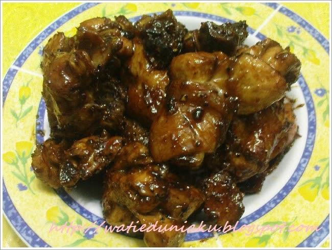 DUNIA WATIE: Ayam Madu Sticky yg mudah