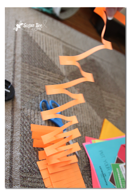 how to cut zig zag paper strips