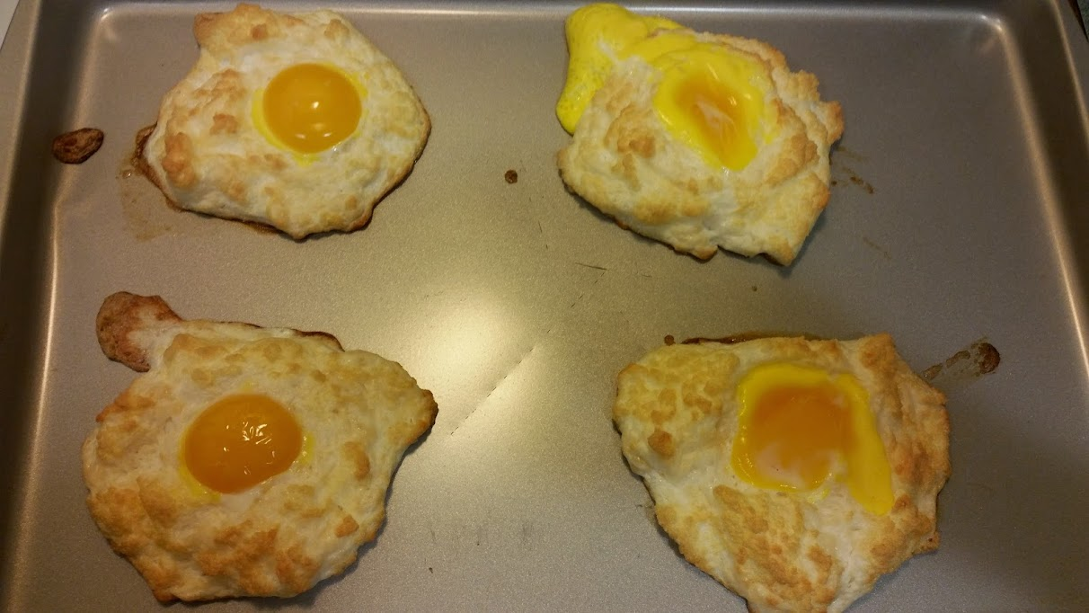 Egg nests after second time in oven