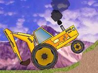 Jugar a Tractores backhoe trial