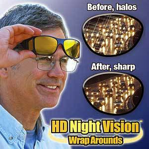 9c51efc3ec ... Night time Driving HD Polarized Glasses Wrap Around Unisex Vision  Glasses. As Seen on TV. (You Get 2 Units in 1 Box). (Grey-Black +  Yellow-Brown Anti UV ...