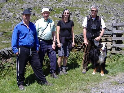 Stephen Gorton, Peter Merrett, Joanna, Mike Town with Martha