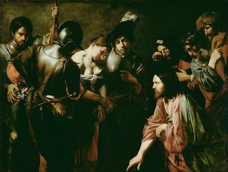 Valentin de Boulogne - Christ and the Adulteress - Google Art Project