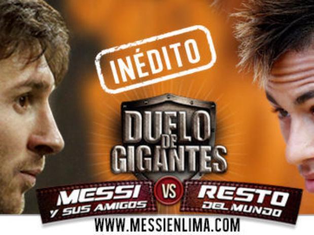 Horario partido Messi y sus amigos Resto del mundo 2Julio 2014