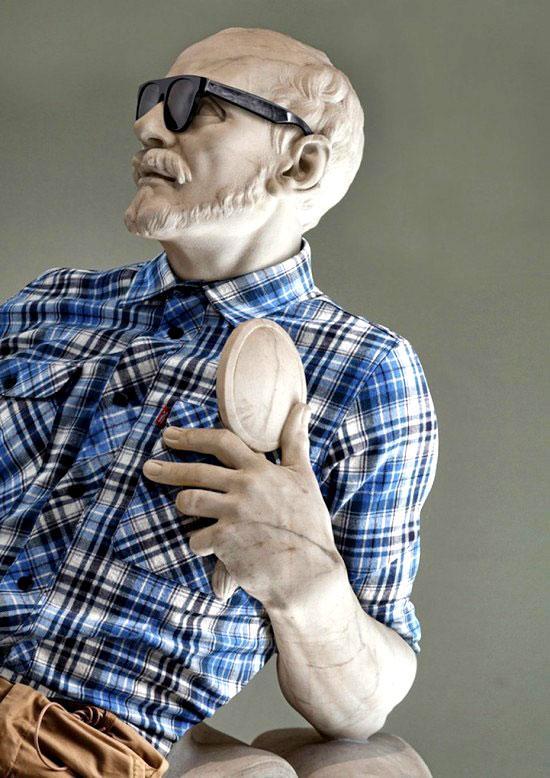 Obras maestras de la escultura con look hipster 7