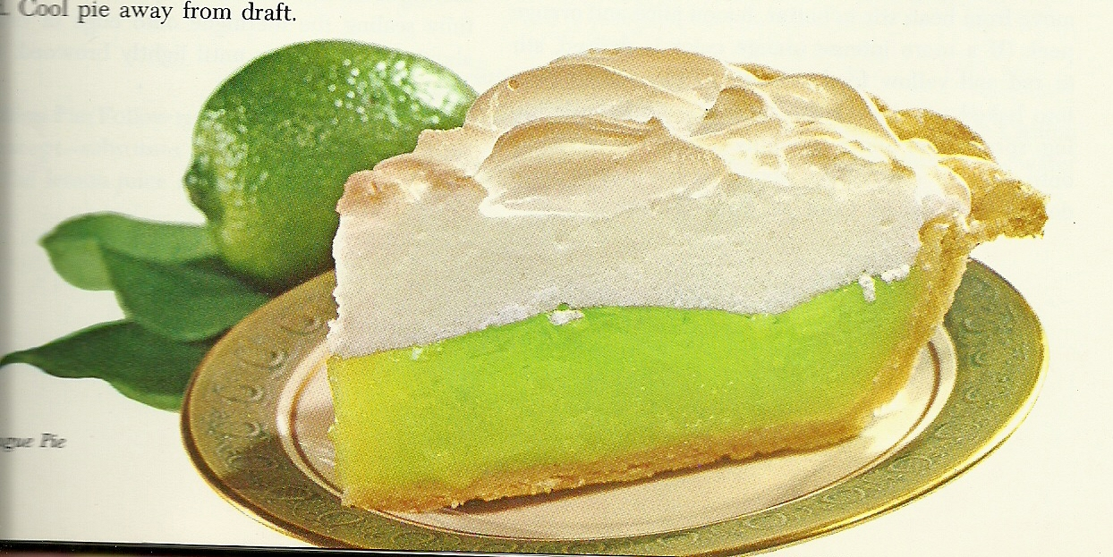 Vintage Cookbooks & Crafts: Beware the Pies of March: Lime Meringue