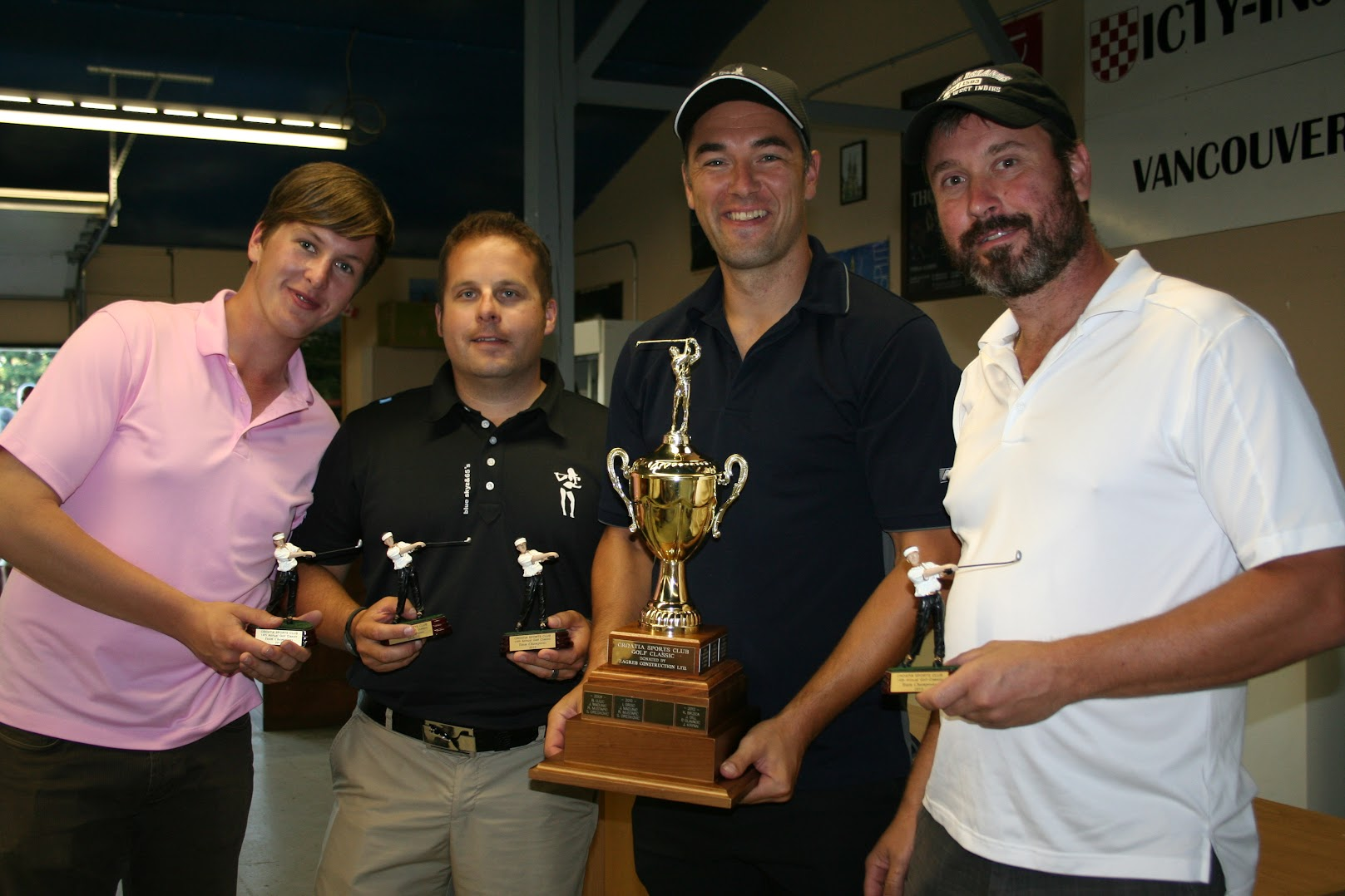 Croatia SC Golf Winners: Steven Lane, Mike Majer, Mike Kovac, Eddy Peric