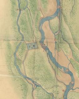 明治6年豊平川概測図