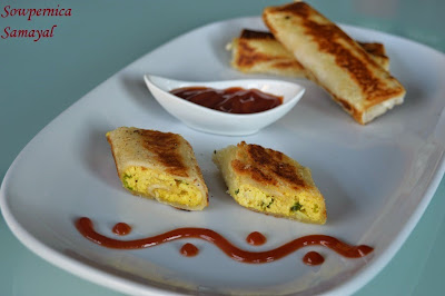 Cheesy Paneer Bread Rolls