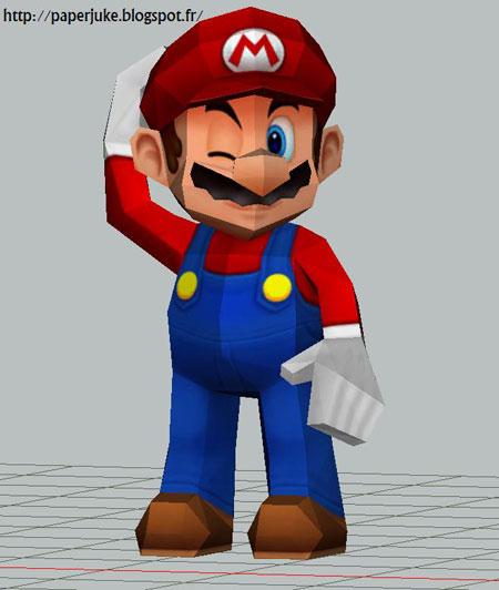 Wink Mario Papercraft