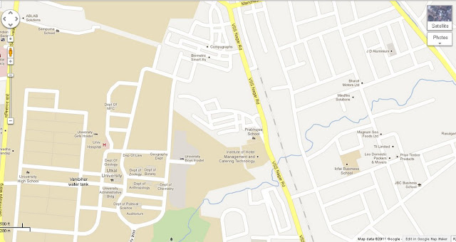 Utkal University - VSS Nagar Road Area Bhubaneswar Map