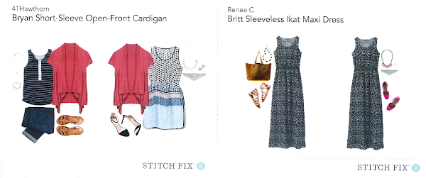 Dresses from previous Stitch Fix boxes