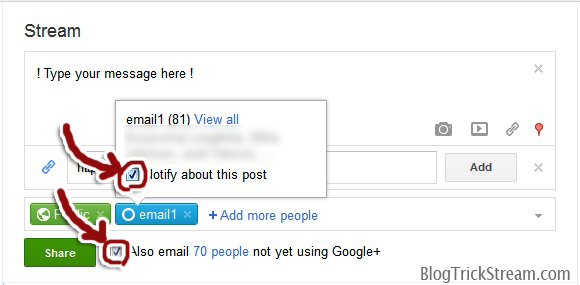 email marketing with Google plus