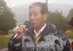 表彰式 小椋 早稲沢キャンプ場代表 挨拶