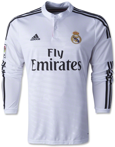 Jersey Jersey Real Madrid Home Lengan Panjang 2014-2015