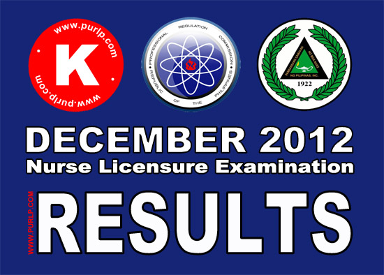 PRC Nursing Board Exam December 2012 Results