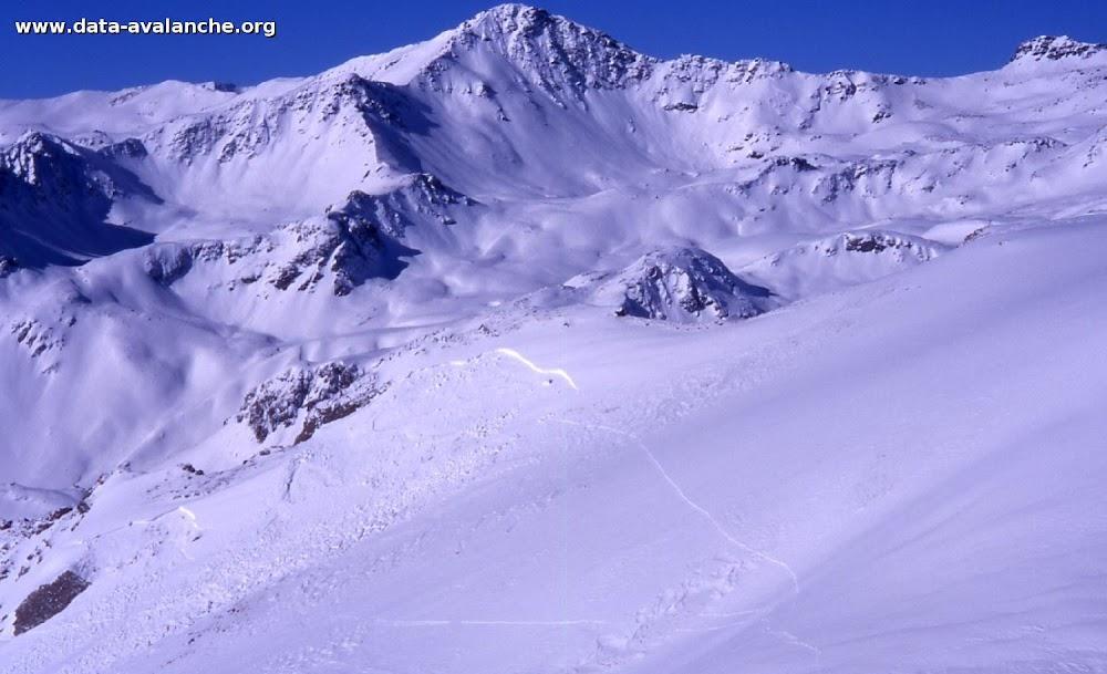 Avalanche Mont Thabor, secteur Punta Bagna, A gauche du col d'arrondaz. - Photo 1 - © Duclos Alain