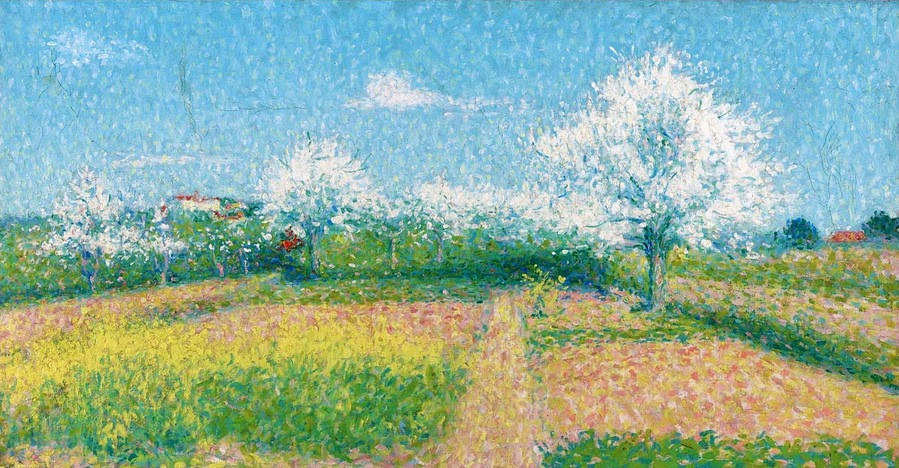Achille Laugé - The Artist`s Orchard