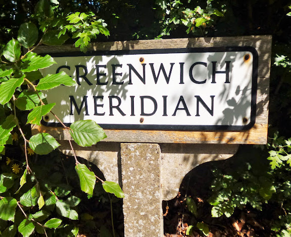 Greenwich Meridian outside Royston