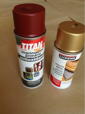 Oro y menta renovando una l mpara de techo parte 1 - Pintura para aluminio en spray ...