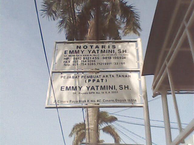 Notaris dan PPAT Emmy Yatmini, SH.