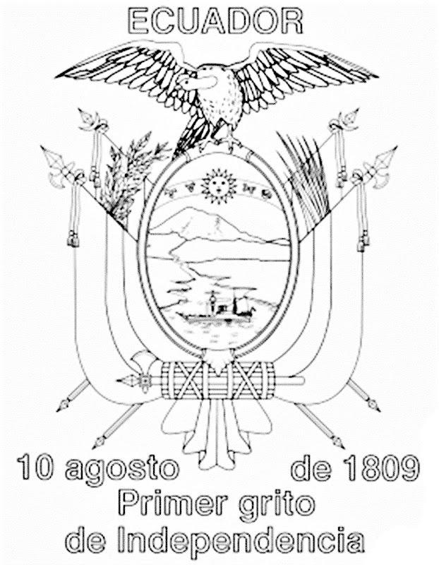 Día de la independencia de Ecuador para colorear 10 de agosto para pintar e imprimir