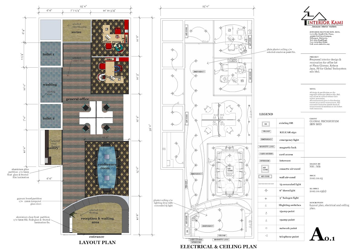 Kelana Jaya, Plaza Glomac - new office design and build