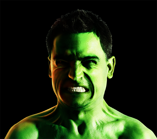 Hulk no Photoshop - resultado final do tutorial