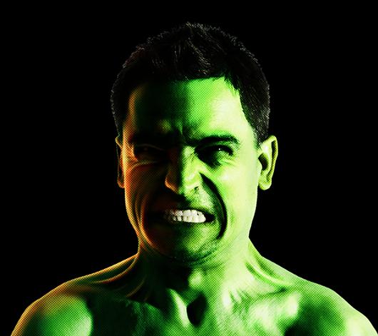 Hulk no Photoshop - resultado final do tutorial