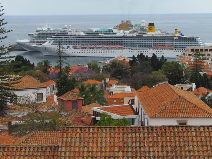 side by side in Funchal port