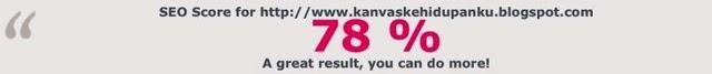 SEO score for http://www.kanvaskehidupanku.blogspot.com