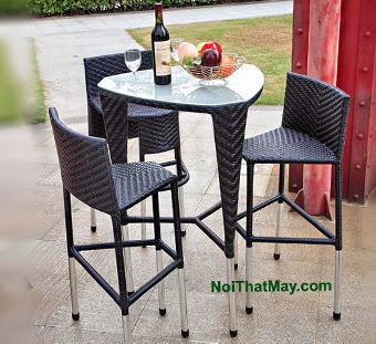 Outdoor Wicker Bar Set Minh Thy 806