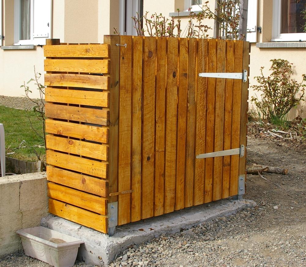 Recup 39 de sherwood cache poubelle n 3 - Fabriquer cache poubelle bois ...