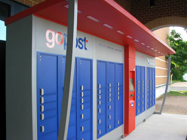 gopost kiosk at Arlington's South Station post office