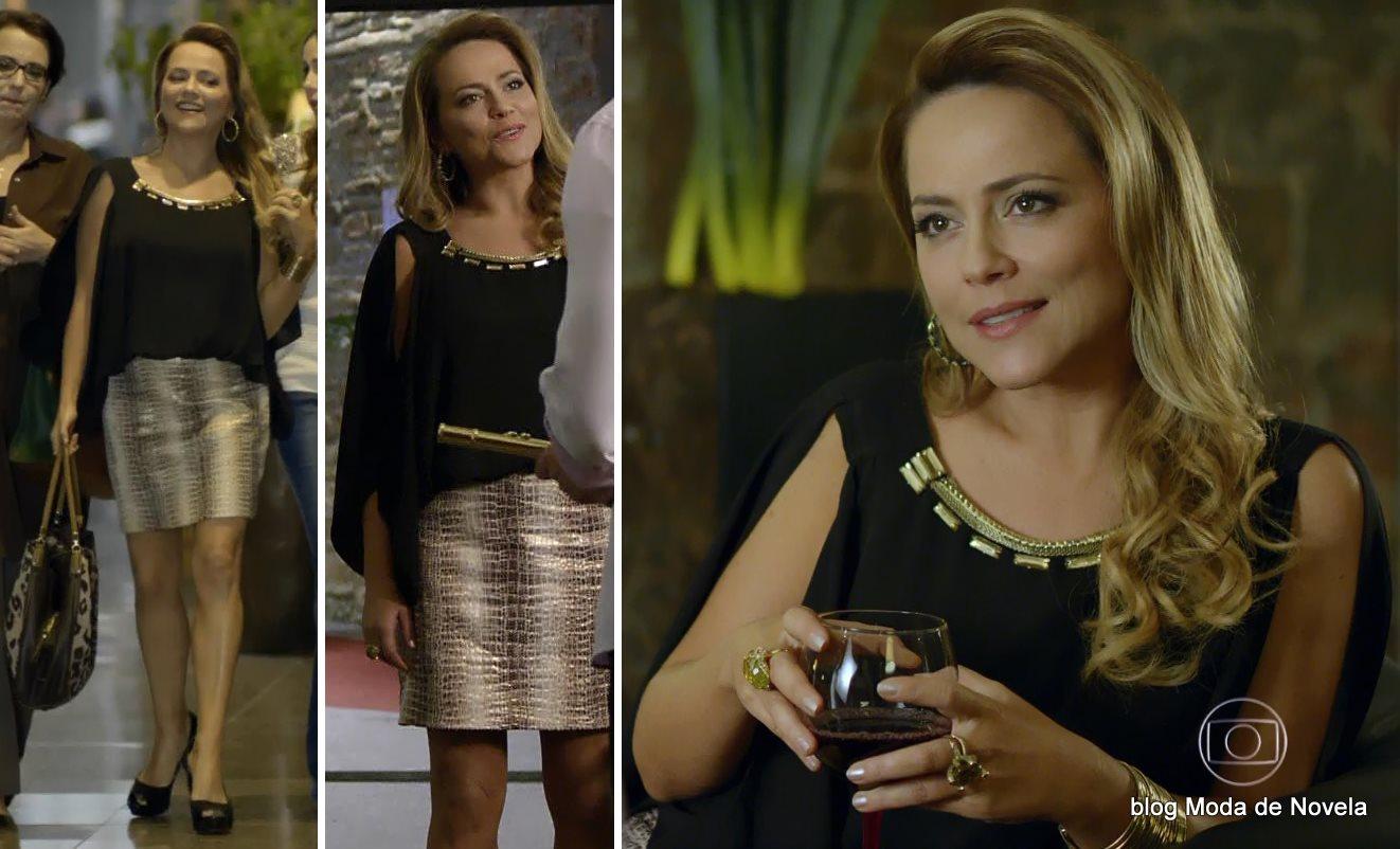 moda da novela Em Família - look da Shirley dia 5 de junho