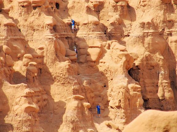 Fellow adventurers climbing up the plateau
