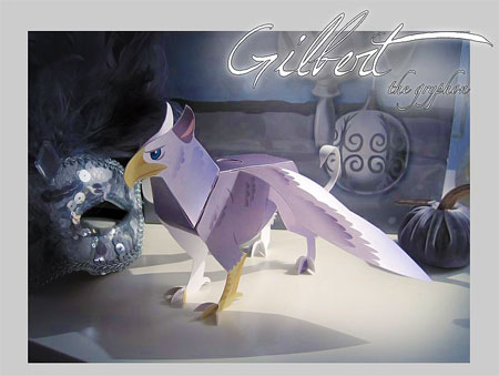 Gilber the Gryphon Papercraft