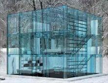 منزل بأكمله من الزجاج
