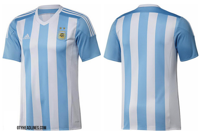 ao bong da - áo bóng đá đội Argentina 2015 - 2016