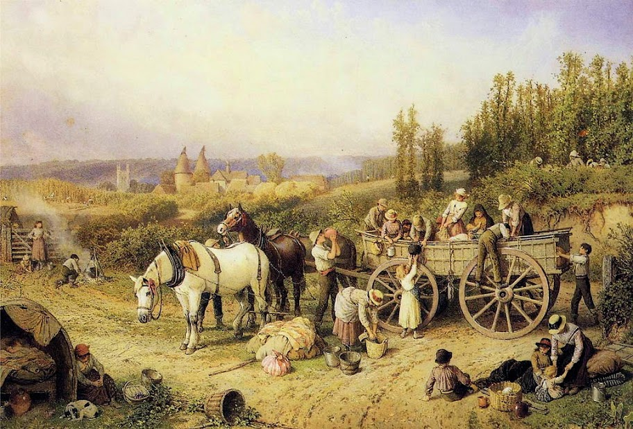 Myles Birket Foster - The Farm Cart