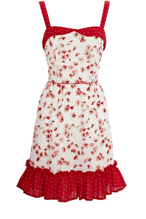 Oasis Red Vintage Inspired Sundress